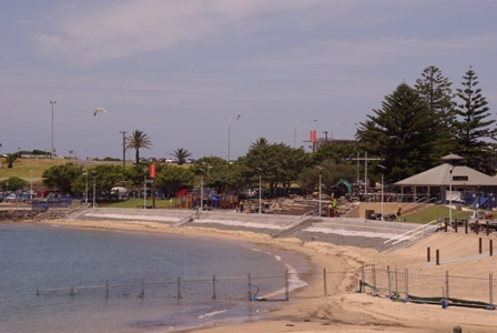 Close to completion, Wollongong Harbour