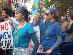 Activists marched down the main street of Helnsburgh